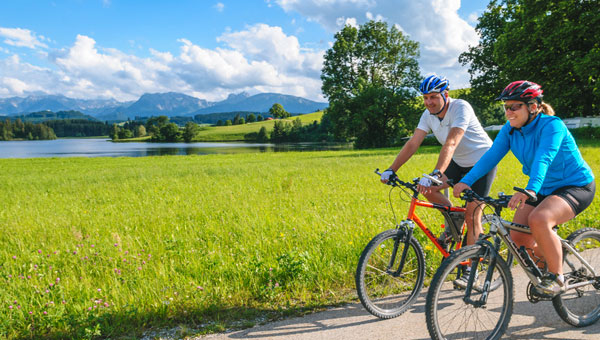 Fahrrad fahren im schönen Allgäu